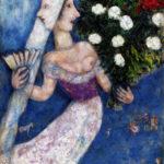 Dies ist das Bild von Marc Chagall. Braut mit zwei Gesichtern. 1927