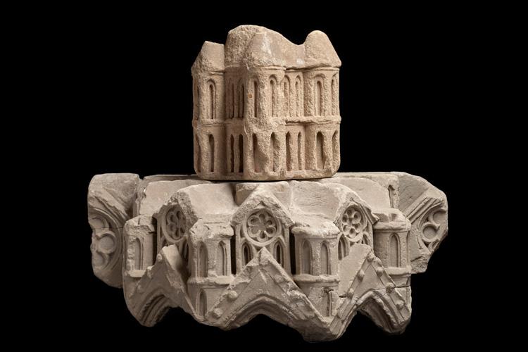 Baldachin mit Turmaufsatz. Mainz, um 1239