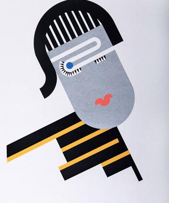 Abbildung von Walter Dexel. Mädchen mit schwarzem Haar. 1930/1968