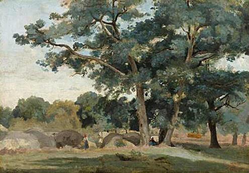 Abbildung von Jean-Baptiste Camille Corot. Fontainebleau - zur Schlucht von Apprémont, um 1830