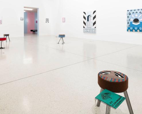 Ausstellungsansicht im Westfälischen Kunstverein Nel Aerts.
