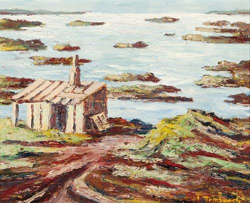 Abbildung von Hans Tombrock. Hütte. 1940