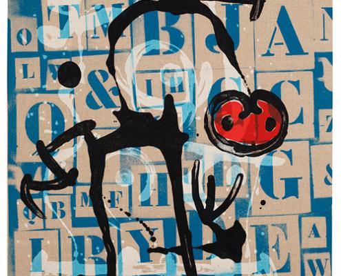 Abbildung von Joan Miró.Der Gebildete, Rot. 1969