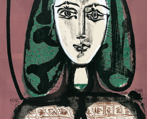 Abbildung von Pablo Picasso. Die Frau mit dem Haarnetz. 1949
