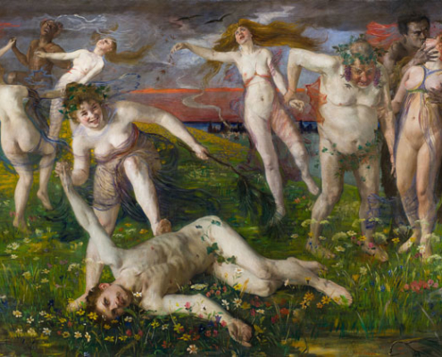 """Lovis Corinth. Bacchanale. 1896. Aus der Ausstellung """"Passion Leidenschaft"""" im LWL-Kunstmuseum"""