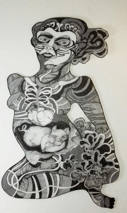 Abbildung von Lisa Urban. Blühende Frau. 2020