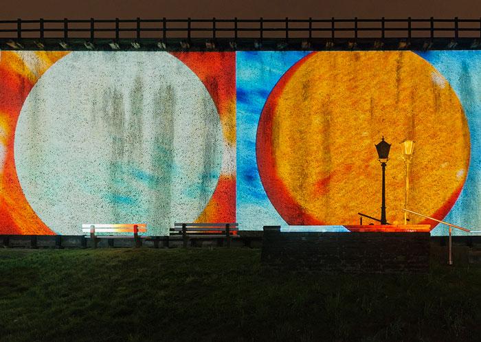 Abbildung von Ryoji Ikdea. The radar. Installationsansicht Lichtsicht 5. 2015