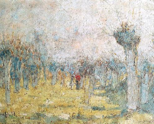 Abbildung von Christian Rohlfs.Weiden im Frühling, 1893