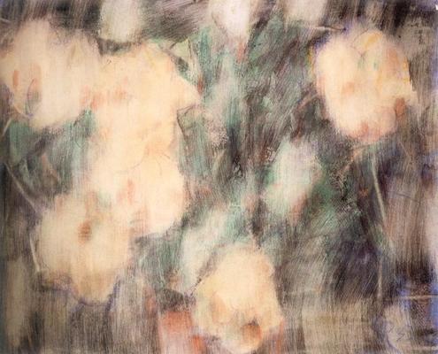 Abbildung von Christian Rohlfs. Weiße Blüten. 1933