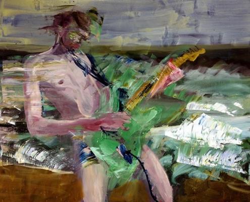 Abbildung von Rainer Fetting. Boy am Meer. 2013