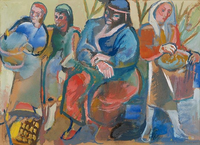 Abbildung von Julo Levin. Marktfrauen. 1930er Jahre