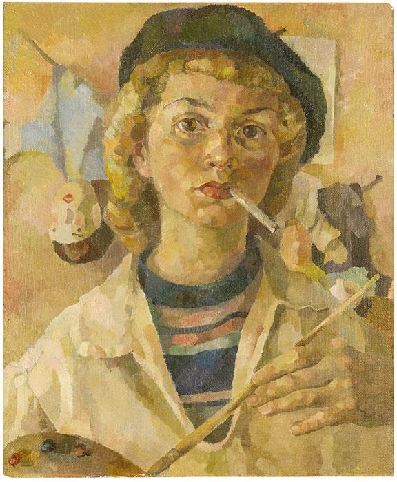 Abbildung von Ruth Baumgarte.Frühes Selbstbildnis, um 1947