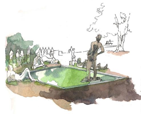 Abbildung von Till Lenecke. Urban Sketching