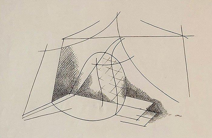 Abbildung von Alfred Lomnitz. Abstrakte Komposition. 1934
