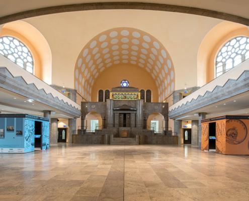Abbildung von AusstellungsansichtAlte Synagoge Essen.2021.Foto: Stefan Arendt/LVR