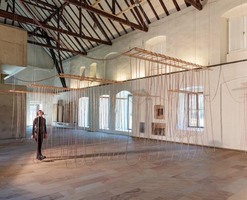Abbildung von Christina Kubisch.Weaving. 2021. Foto: Andreas Lechtape
