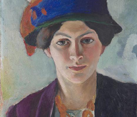 Abbildung von Porträt der Frau des Künstlers mit Hut. 1909.Foto: LWL/Hanna Neander