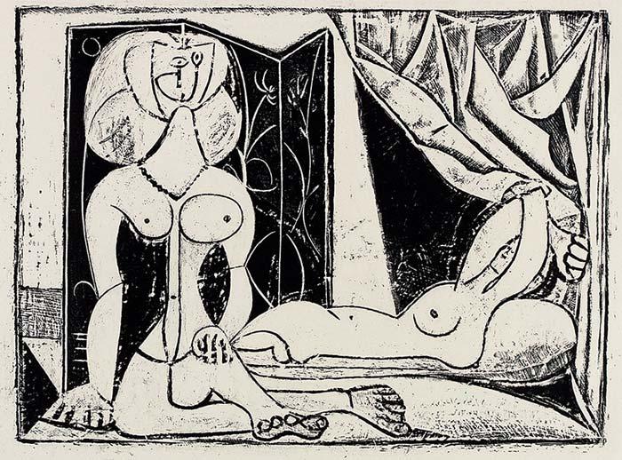 Abbildung von Pablo Picasso. Die zwei Frauenakte. 1946