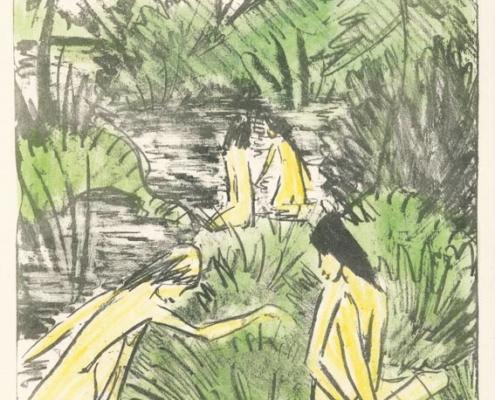 Abbildung von Otto Mueller. Badende. 1918