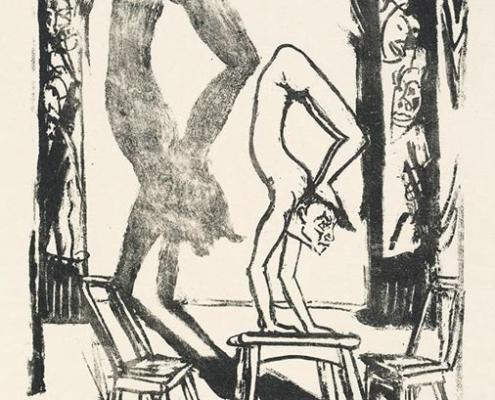 Abbildung von Erich Heckel. Handstand. 1916