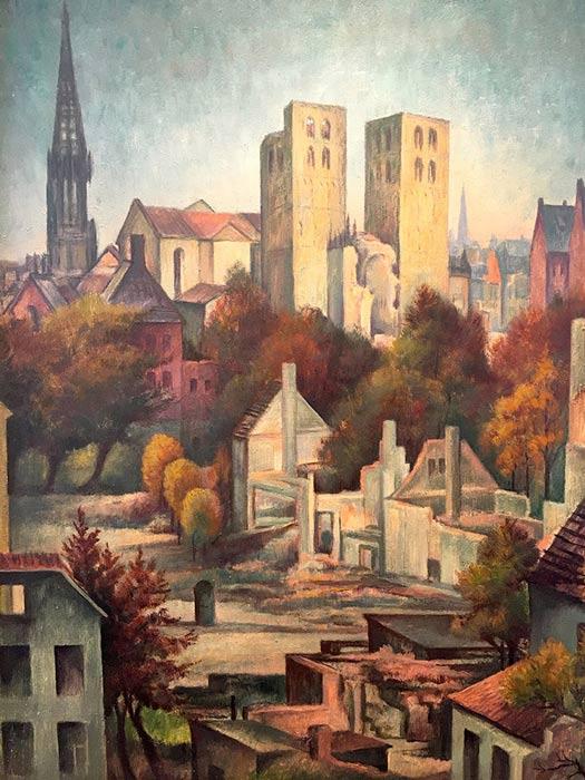 Abbildung von Hans Kraft. Dom zu Münster. 1946