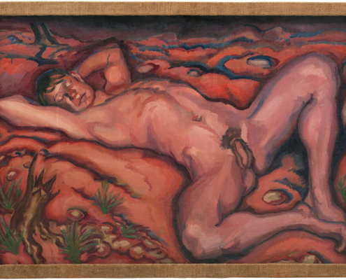Abbildung von Ludwig Meidner. Ein männlicher Akt. ohne Jahr