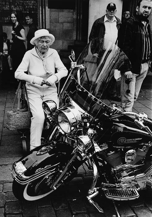 Abbildung von Berthold Socha. Motorradtreffen. Prinzipalmarkt. 2008
