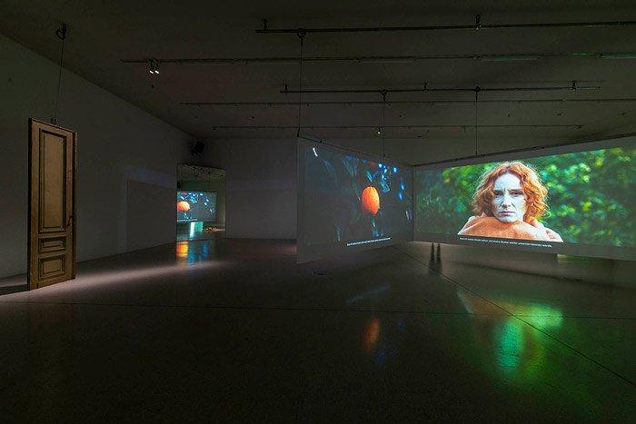 Abbildung von Maria D. Rapicavoli. The Other – A Familiar Story. Ausstellungsansicht Westfälischer Kunstverein 2021