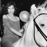 Abbildung von Bianca Jagger Celebrating her Birthday. 1977