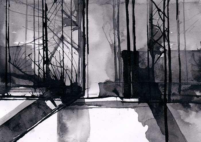 """Abbildung von Thomas Prautsch. Aus der Serie """"Auf dem Weg"""""""