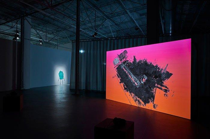 Abbildung von Sensing Scale. InstallationsansichtenKunsthalle Münster 2021