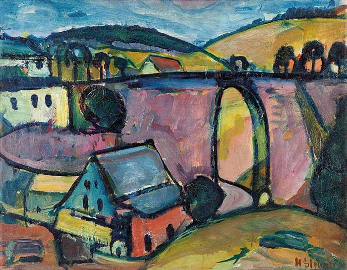 Abbildung von Hermann Stenner. Viadukt bei Monschau. 1912