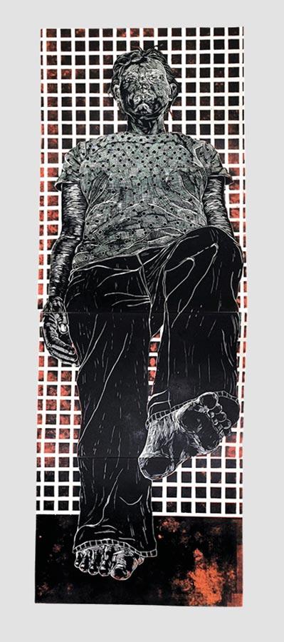 Linolschnitt von Karina Kwapil