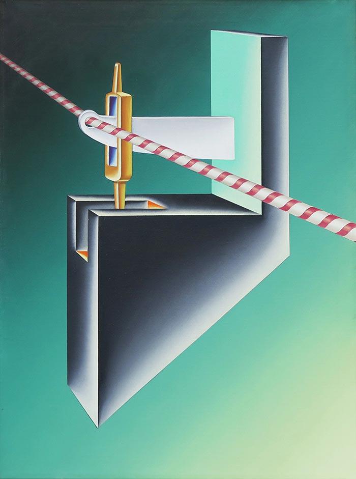 Abbildung von Konrad Klapheck.Der Thronfolger. 1965.© VG Bild-Kunst, Bonn 2021